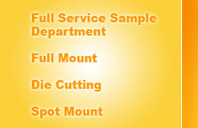 die Cutting, full mount, spot mount, guillotine, double face tape, eyelets, grommets, round corners, fulfillment